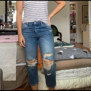 Topshop Distressed Jeans